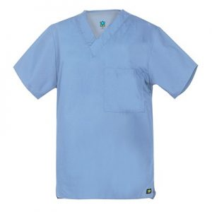 CORE LINE 1006 – UNISEX #21 V NECK SCRUB TOP W/1 POCKET