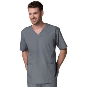 RED PANDA 5206 – MEN'S V NECK SCRUB TOP W/3 POCKETS