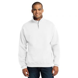 CANCER995M JERZEE'S UNISEX CADET COLLAR 1/4 ZIP SWEATSHIRT