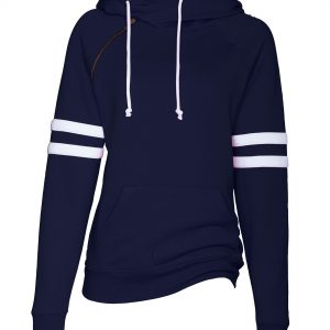 EZ373 ENZA LADIES VARSITY DOUBLE HOOD SWEATSHIRT