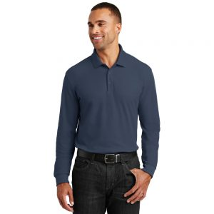 K100LS PORT AUTHORITY® LONG SLEEVE CORE CLASSIC PIQUE POLO