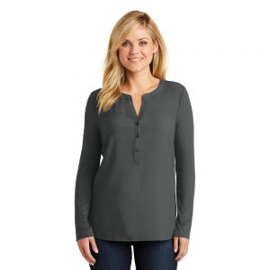 LK5432 Port Authority Ladies Concept Henley Tunic