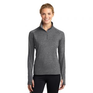 CANCERLST850 SPORT-TEK® LADIES SPORT-WICK® STRETCH 1/2-ZIP PULLOVER