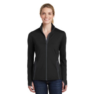 CANCERLST853 SPORT-TEK® LADIES SPORT-WICK® FULL-ZIP JACKET