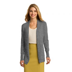 REHAB54 RIB CARDIGAN WITH FLATTERING DRAPE (LADIES)