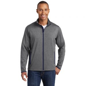 CANCERST853 SPORT-TEK® SPORT-WICK® STRETCH CONTRAST FULL-ZIP JACKET