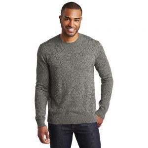 SW417 Port Authority Marled Crew Sweater