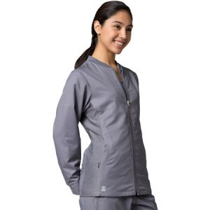 EON LINE 8708 – LADIES FIT SPORTY MESH PANEL SCRUB JACKET