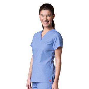 RED PANDA LINE 1716  – LADIES FIT V-NECK TWO POCKET SCRUB TOP