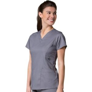 EON LINE 1708  – LADIES FIT V-NECK POCKET SCRUB TOP