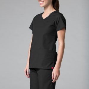 Red Panda 1726 – Curved Mock Wrap Top
