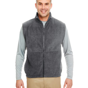 8486 UltraClub Adult Iceberg Fleece Full-Zip Vest