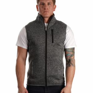 BU437 Burnside® Sweater Fleece Vest
