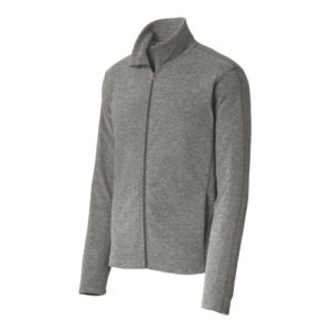 F235 Port Authority® Heather Microfleece Full-Zip Jacket