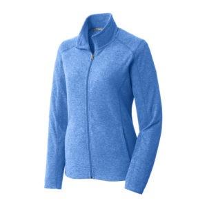 L235 Port Authority® Ladies Heather Microfleece Full-Zip Jacket
